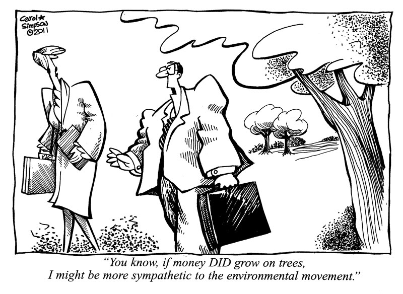 money on trees cartoon