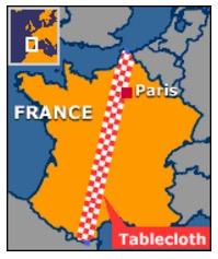 France tablecloth